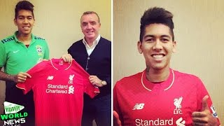 Roberto Firmino Wears Liverpool Shirt for First Time Since Agreeing Transfer