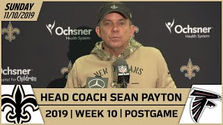 Sean Payton Postgame Reactions After Week 10 Loss vs. Falcons | New Orleans Saints Football