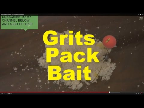 How to make Grits Pack Bait Tutorial for carp fishing