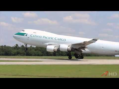 Cathay Pacific Cargo 747-400ERF Departure (Up Close)