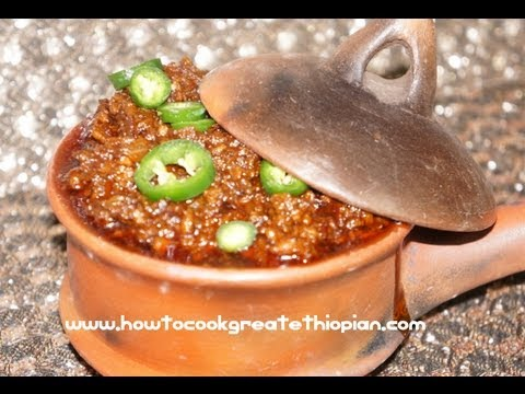 Ethiopian Spicy Minced Chicken Stew - Minchet Doro Wat