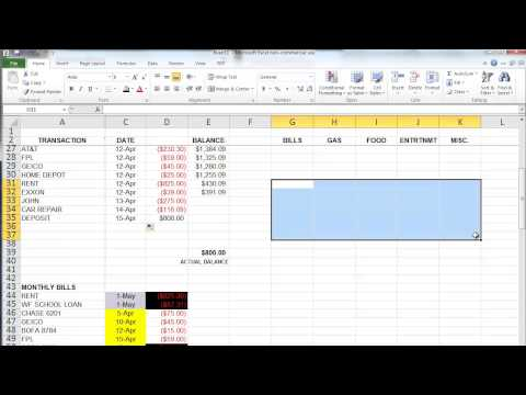 The Basics of Microsoft Excel - How to Create a Budget and Manage Your Money