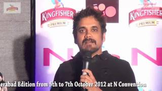 Actor Nagarjuna in Kingfisher Premium, The Great Indian October fest 2012 -- Hyderabad Edition