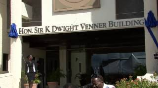 Unveiling of  the Hon Sir K Dwight Venner Building Signage