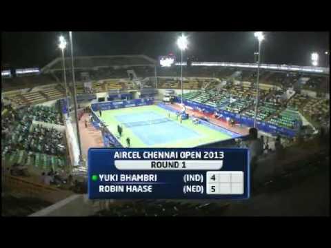 Aircel Chennai Open 2013 : Match 2 : Robin HAASE(NED) vs Yuki BHAMBRI(IND)