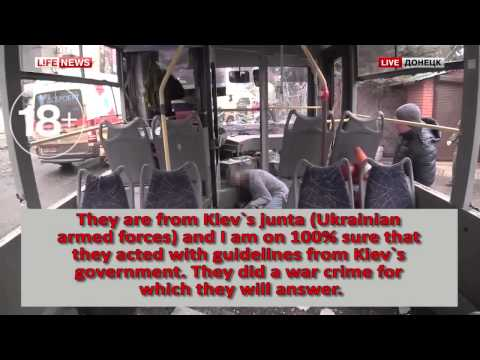 Donetsk was shot by Sabotage group which drove garbage trucks