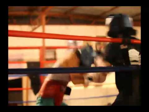 Woman Boxer Kaliesha West training clip Video