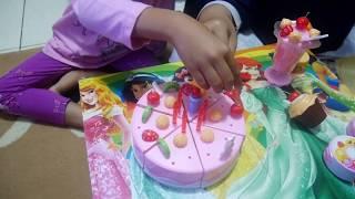 Unboxing Mainan Kue Ulang tahun, DIY Cake Birthday