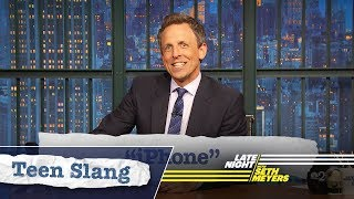 Seth Explains Teen Slang: iPhone, Louis C.K.