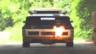 800hp Ford RS200 Evo 2 RallyCross Monster in Action + Crash!