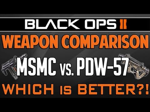 Black Ops 2: MSMC vs. PDW-57 - Weapon Comparison (BO2 Multiplayer Gameplay)