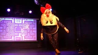 Erika Clash - Ms. Pacman routine - Austin International Drag Fest 2017