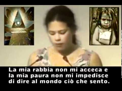 La bambina che zitt il Mondo per 6 minuti (Nazioni Unite 1992)
