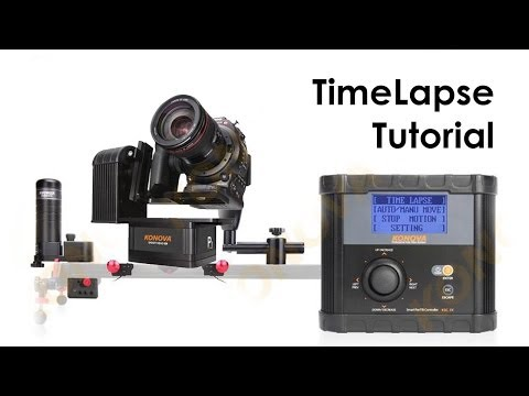 Timelapse Tutorial with KONOVA motorized slider