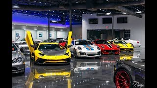 Most Expensive Supercar Showroom World's Best Exotic cars Drive by at Prestige Imports Miami