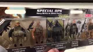 "ELITE FORCE ""Special Ops - Navy Seals & Delta Force"" 5 Pack Military Action Figures / Toy Review"