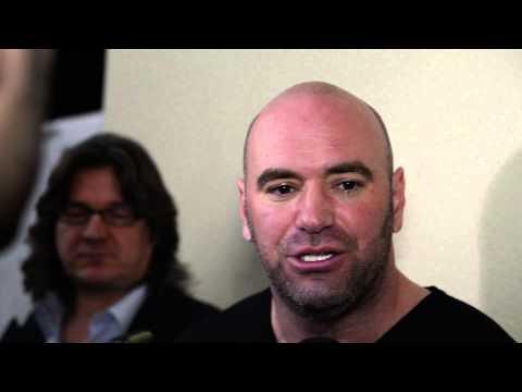 Media Scrum Dana White - UFC Fight Night London 2014