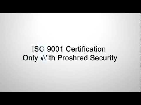 Mobile Paper Shredding Company Alpharetta - ISO 9001 Certification Only With Proshred