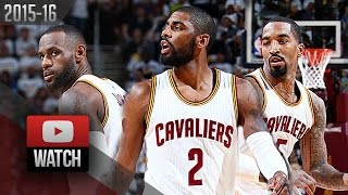 LeBron James, Kyrie Irving & J.R. Smith Full Highlights vs Pistons 2016 Playoffs R1G2 - (CAVS Feed)