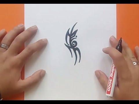 Como dibujar un tribal paso a paso 159 | How to draw one tribal 159