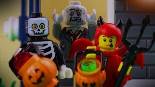 LEGO Halloween STOP MOTION | LEGO City Halloween: Trick or Treat Fail | LEGO City | Billy Bricks