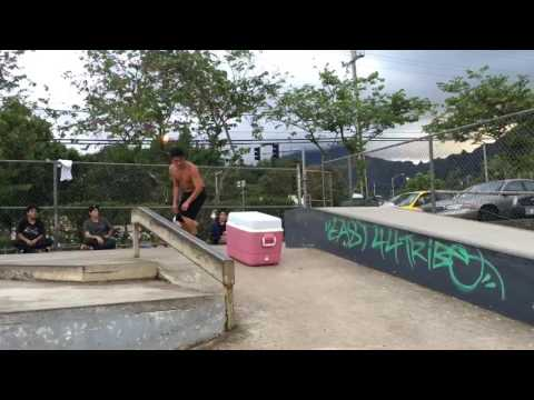 Skating a Cooler/Ice Box - with Brandon Hashiguchi and Jason Park