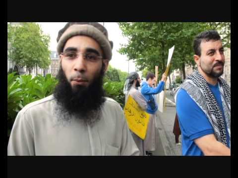 Sharia4Belgium manifeste devant l'ambassade du Maroc à Bruxelles