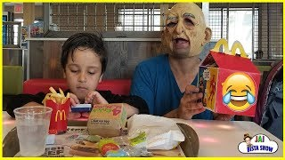 Kids Driving to McDonald's For Happy Meal with Grandpa || Jai Bista Show
