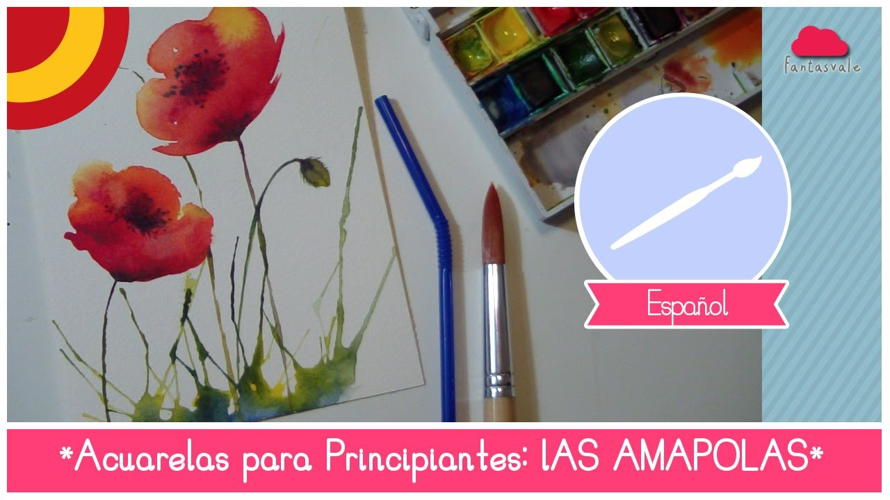 Curso de acuarela para principiantes como pintar amapolas - Unas modelos para pintar ...