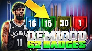 ISO DRIBBLE GOD SLASHER KYRIE IRVING BUILD can BREAK NBA 2K20 | 62 BADGES! DEMIGOD POINT GUARD BUILD