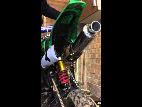 Pitbike High Performace Exhaust Test