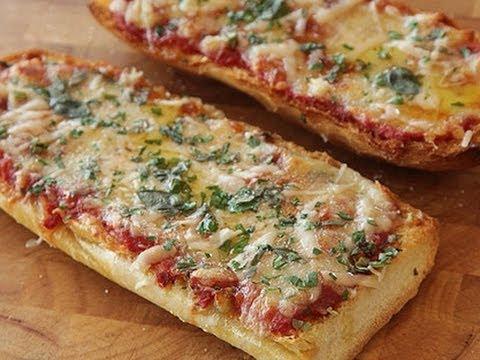 Pizza de Pan de Barra o Frances, receta y elaboracion
