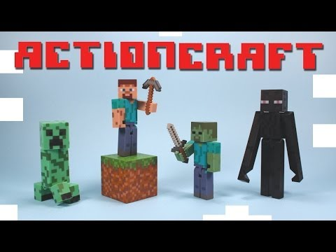 Minecraft Action Figure toys Series 1 Steve? Enderman Zombie & Creeper