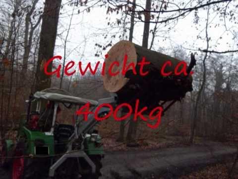 Hecklader Diadem 400HL mit Hubkraftverstärkung an einem Deutz 5006
