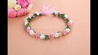Handmade Tiara | DIY Flower Crown Tiara | Tiara in 3 easy step | Super easy | I Love Creativity | 09