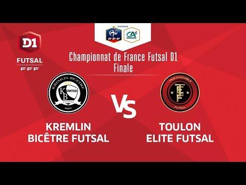 Finale D1 Futsal I Kremlin Bicêtre / Toulon Elite Futsal - Samedi 9 Juin à 17h00