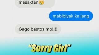 """Sorry Girl"" Tagalog Lyrics Prank"