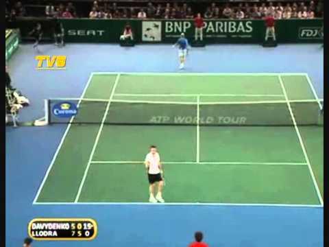 Nikolay ダビデンコ vs マイケル Llodra - Paris 2010 (1/4 決勝戦(ファイナル) )