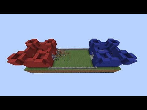 Minecraft CASTLE CLAY SOLDIERS BATTLE! • Red VS Blue