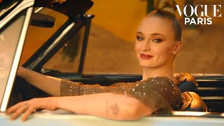 Sophie Turner shows you how to change a car tire | Vogue Paris