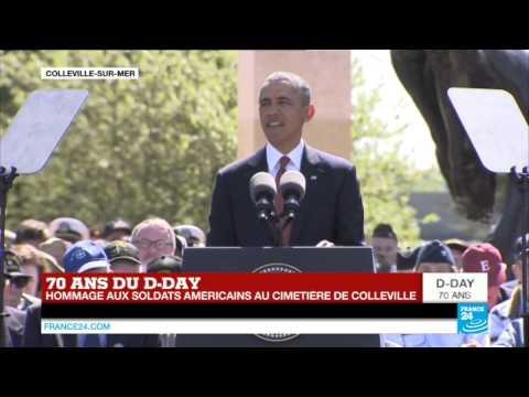 Célébrations du D-Day : Barack Obama en hommage aux soldats américains