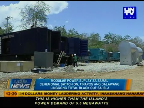 Modular power supply sa Samal ceremonial switch on, tinapos ang 2 linggong total black out sa isla