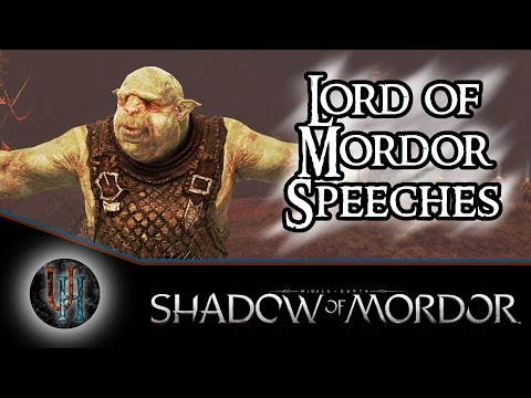 Middle-Earth: Shadow of Mordor - Every Lord of Mordor Nemesis Speech