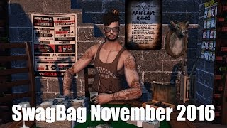 SwagBag (for men) - November 2016 - Unboxing Video - Second Life Subscription Box