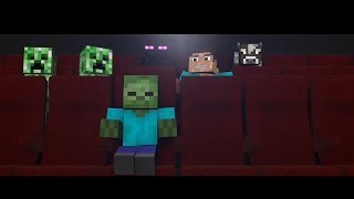 Мобы в кинотеатре - Minecraft animation