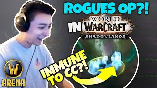 ROGUES OP IN SHADOWLANDS?! Infinite Bleed & Immune to CC | Pikaboo WoW Arena