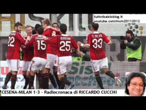 CESENA-MILAN 1-3 – Radiocronaca di Riccardo Cucchi (19/2/2012) da Radiouno RAI