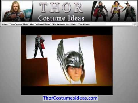 Thor Costume with Thor Helmet, Thor's Hammer and Thor Games