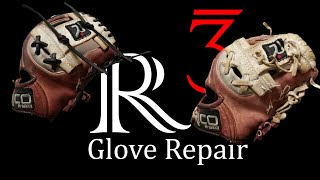baseball glove repair pt. 2