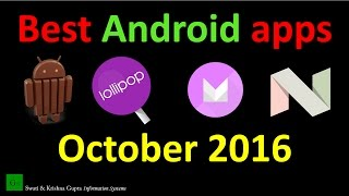 Top 10 Best Free Android Apps October 2016